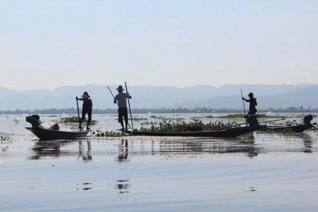 Group of Fishermen on Inle Lake