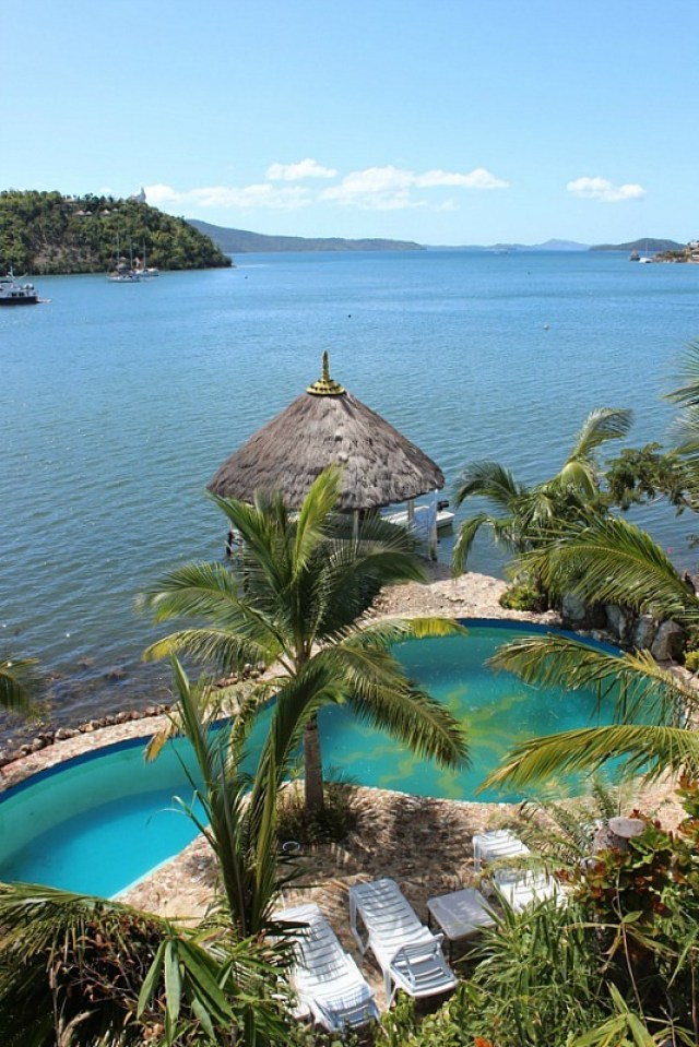 view-from-puerto-del-sol-resort-in-pearl-bay-on-busuanga-island near Coron