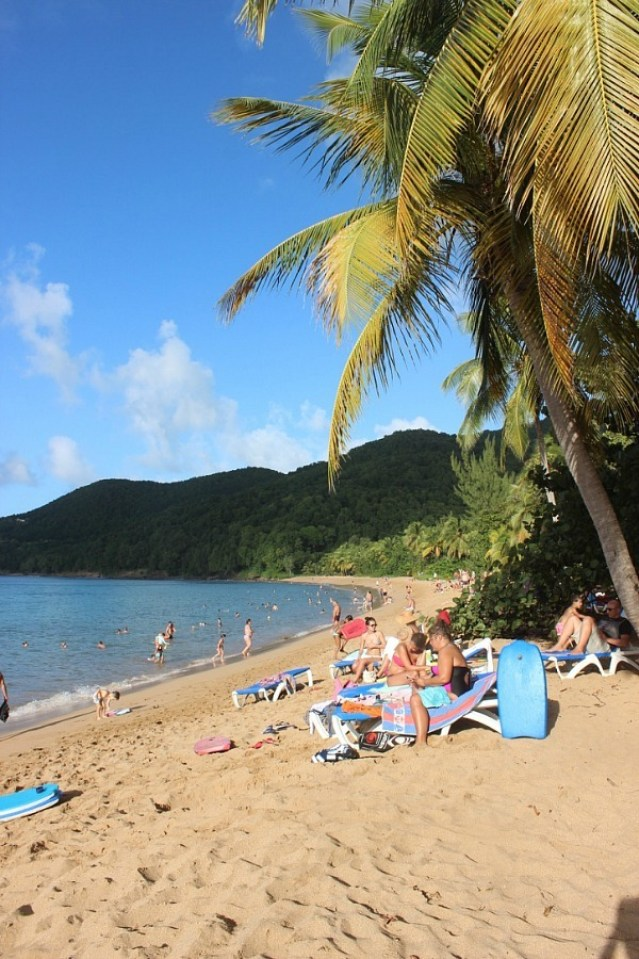 Grand Anse beach on Guadeloupe - visited during month nineteen of digital nomad life