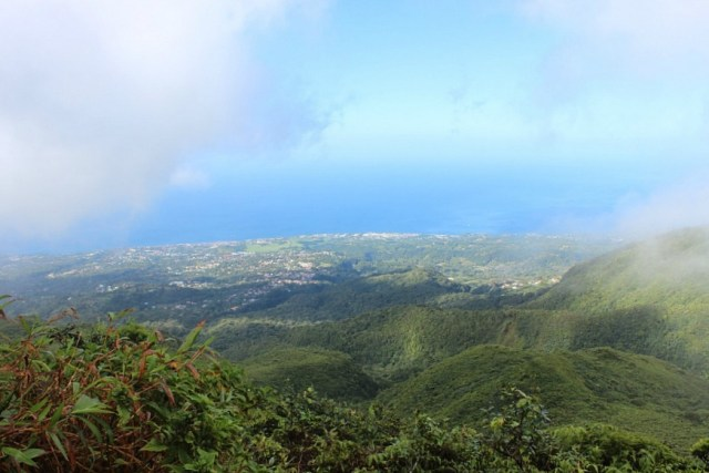 Climbing Le Grand Soufrière on Guadeloupe during month nineteen of digital nomad life