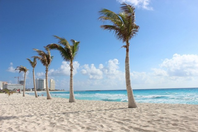 Cancun beach in Mexico - visited during month twenty of digital nomad life