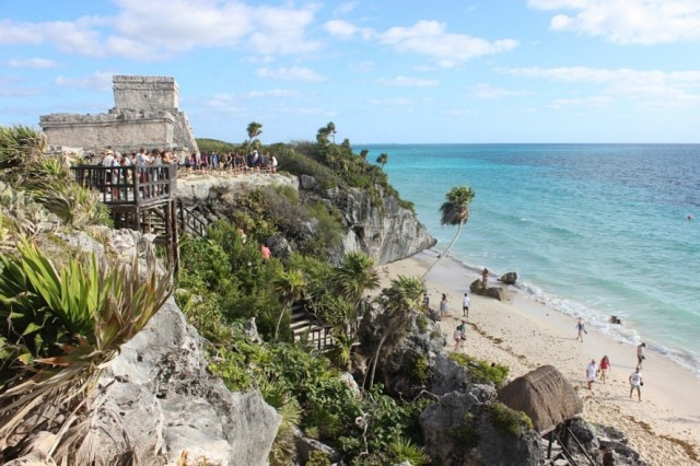 Tulum ruins in Mexico - visited during month twenty of digital nomad life