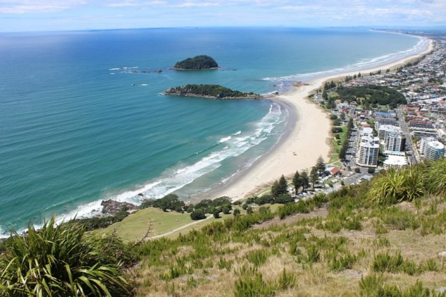 View from top of Mount Maunganui - climbed during month twenty one of digital nomad life