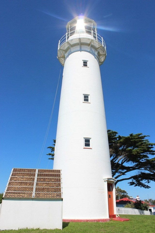 Lighthouse on Tiritiri Matangi Island off Auckland, New Zealand - visited during month twenty one of digital nomad life