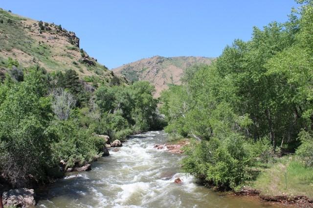 Walking the Clear Creek trail in Golden near Denver