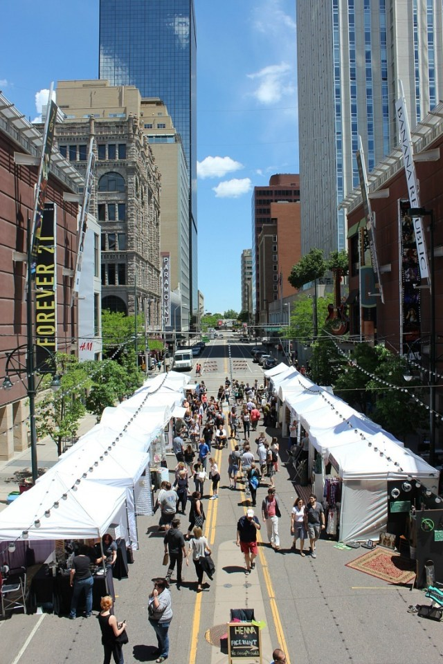 Downtown Denver, Colorado in summer is a must