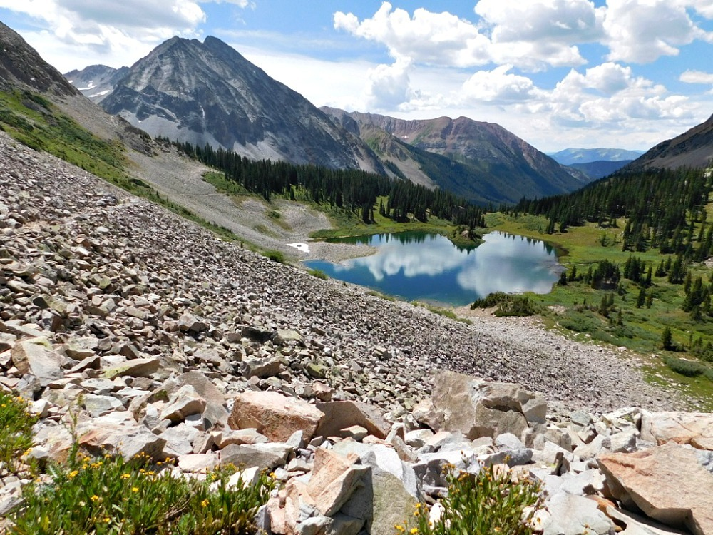 Copper Lake in Maroon Bells Colorado - visited during month twenty six of Digital Nomad Life