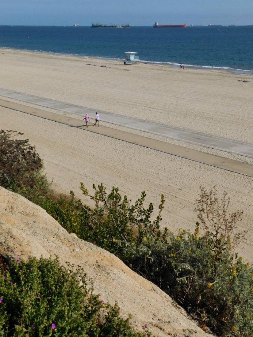 Beach time in Long Beach during month 27 of Digital Nomad Life