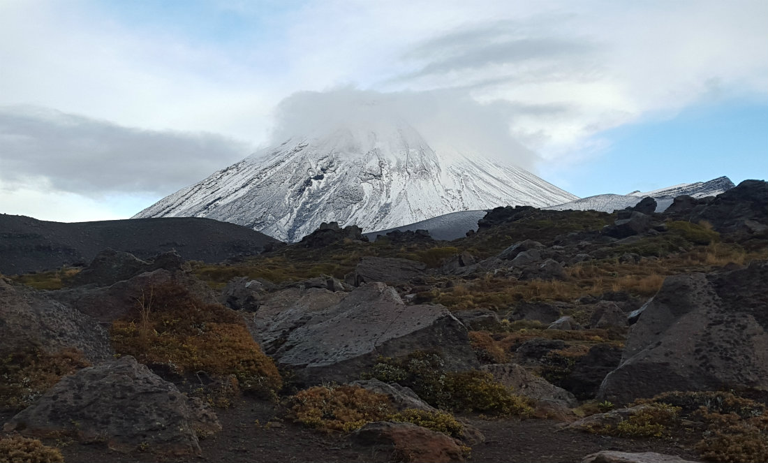 Views over Mount Ruapehu on the Tongariro Northern Circuit