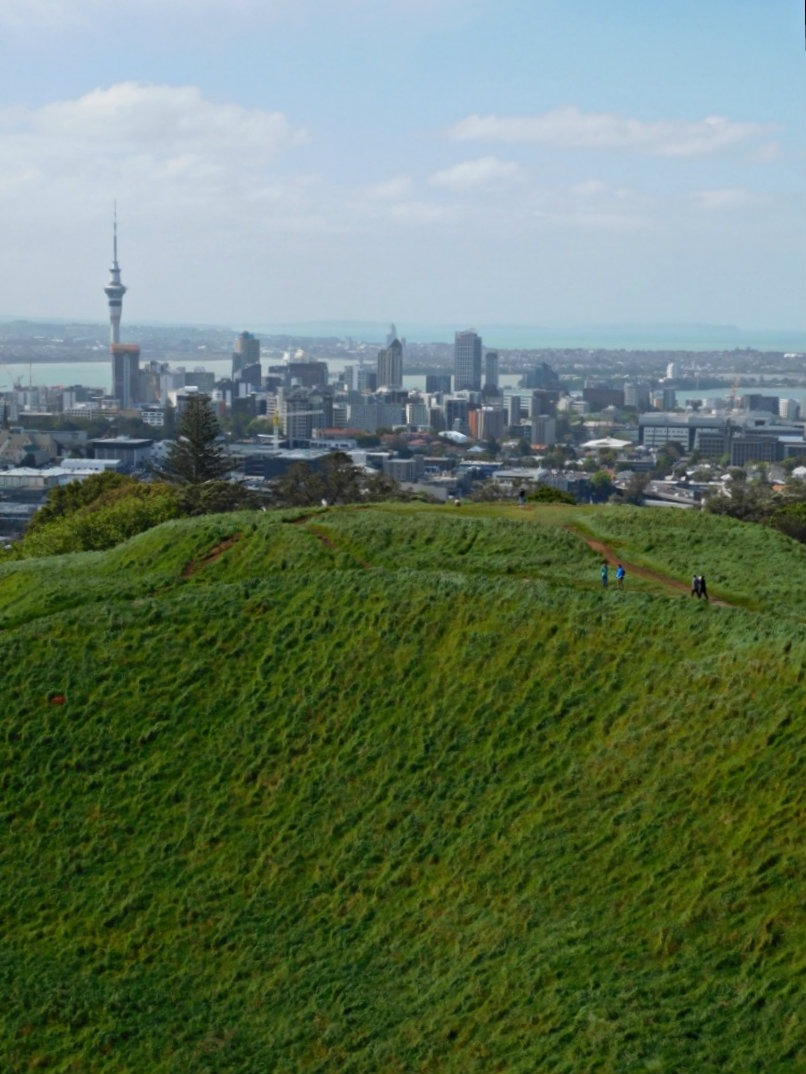Hiking up Mt Eden during month thirty of Digital Nomad Life