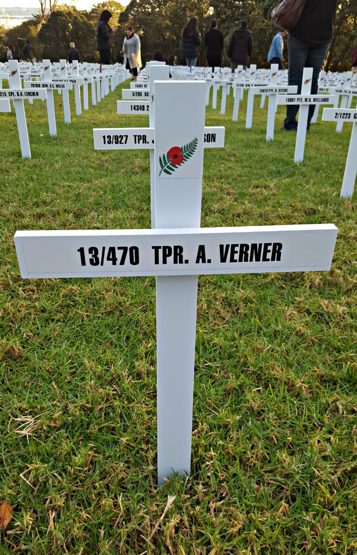 A Verner Cross - WW1 Veteran - in Auckland, New Zealand