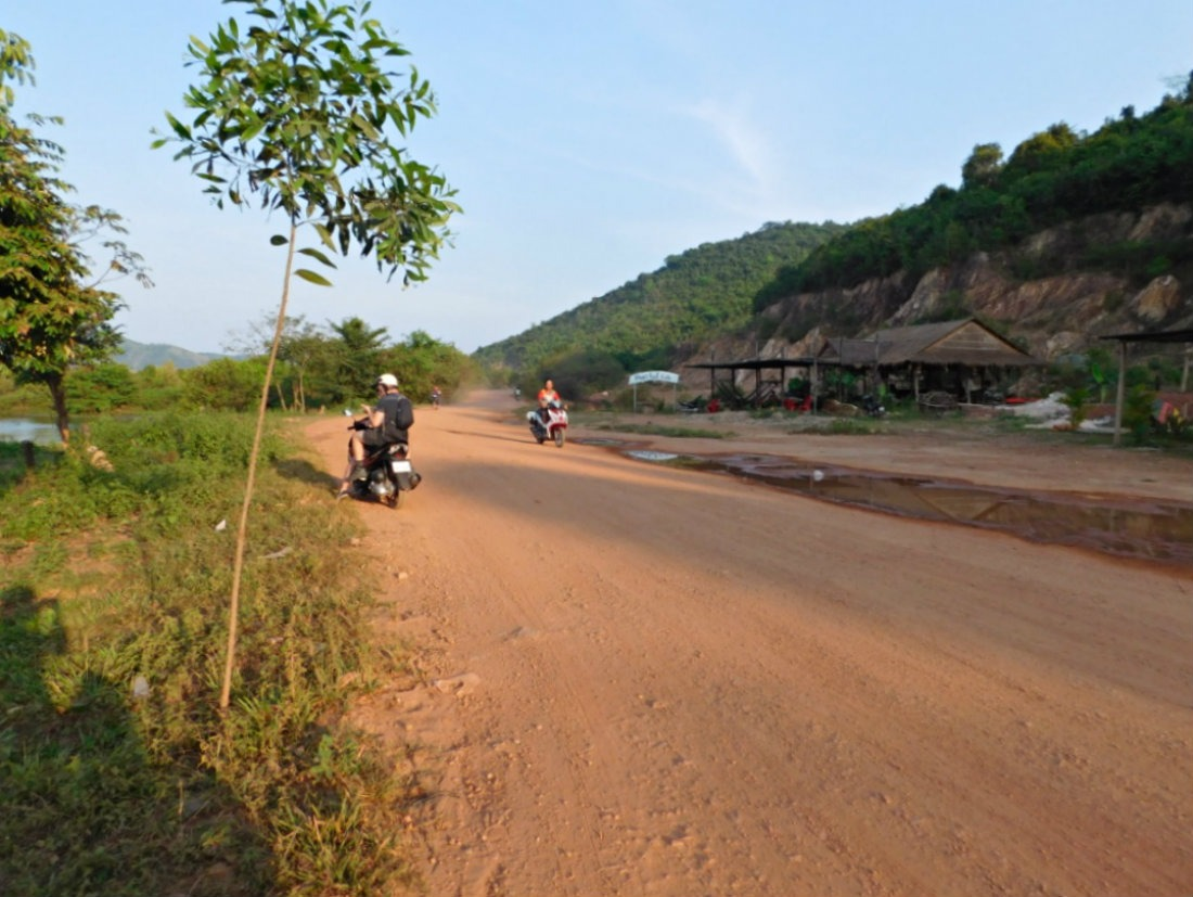 Exploring the Cambodian countryside by scooter is one of the best things to do in Kampot