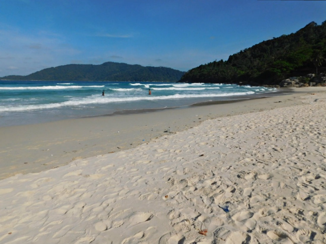 Stunning Long Beach in the Perhentian Islands in the shoulder season