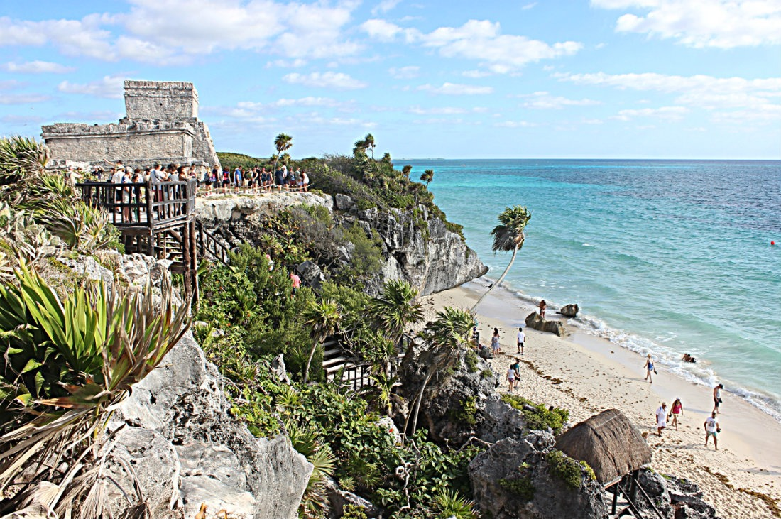 Tulum ruins in Mexico - visited during a one month trip to Mexico, a benefit of living a nomadic life