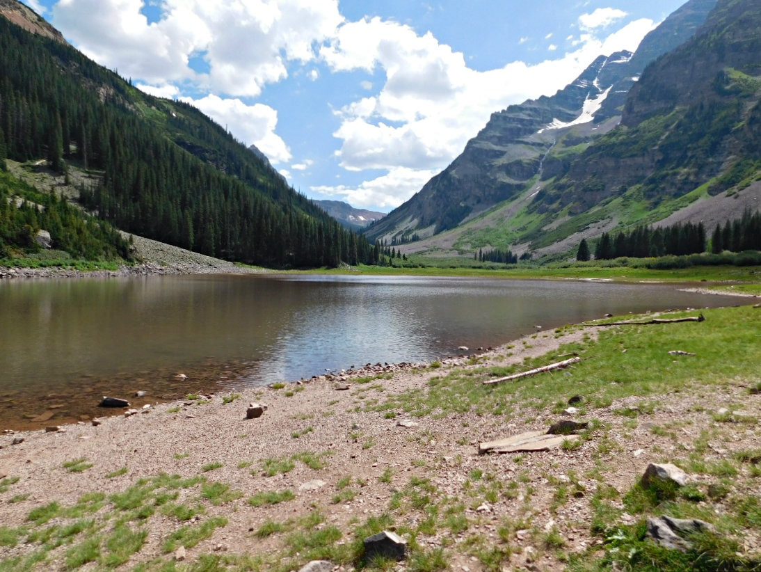 Crater Lake on the hike from Aspen to Crested Butte in Maroon Bells-Snowmass Wilderness