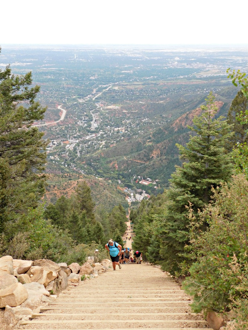 Hiking the Incline in Manitou Springs, Colorado