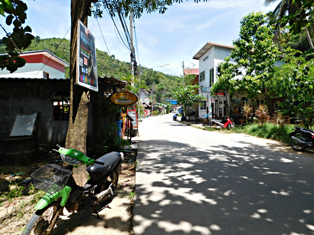 Village of Thong Nai Pan Noi on Koh Phangan in Thailand