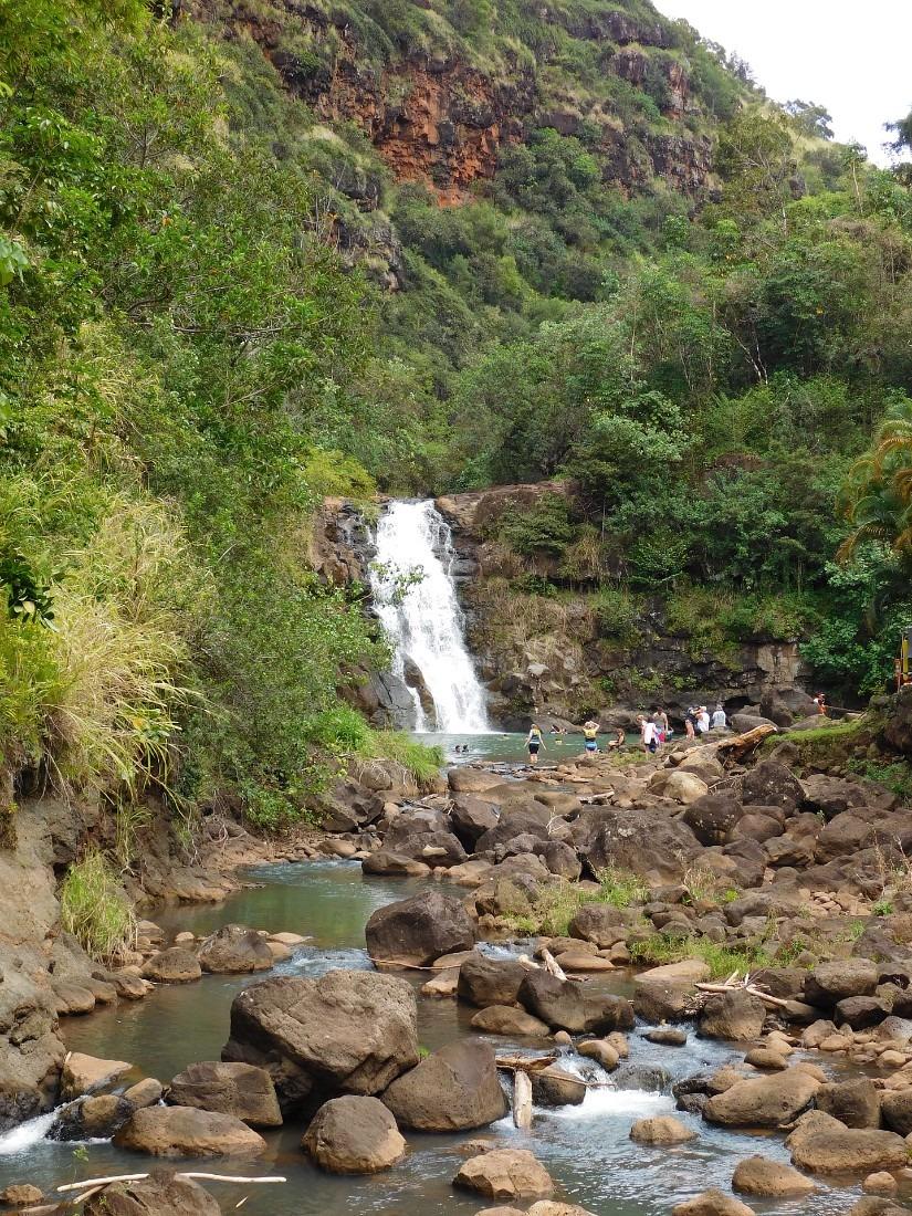 Waimea Falls in Waimea Valley on the North Shore of Oahu