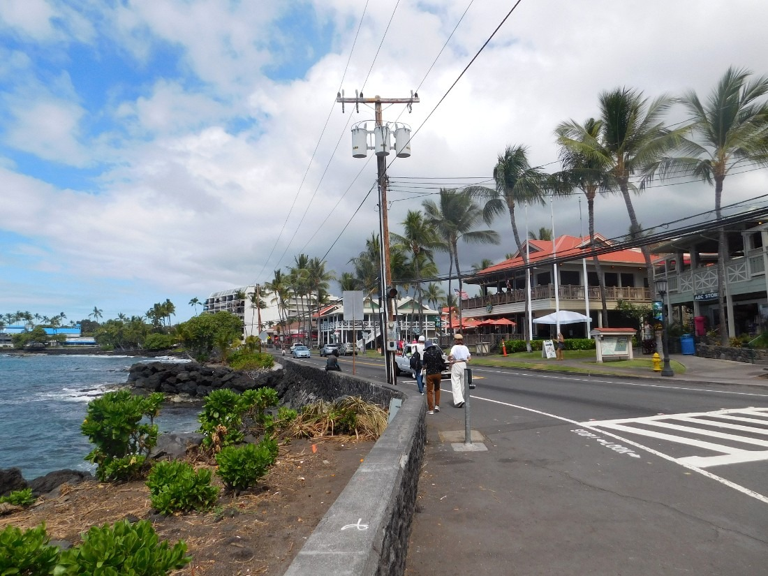 Downtown Kailua-Kona on the Big Island of Hawaii