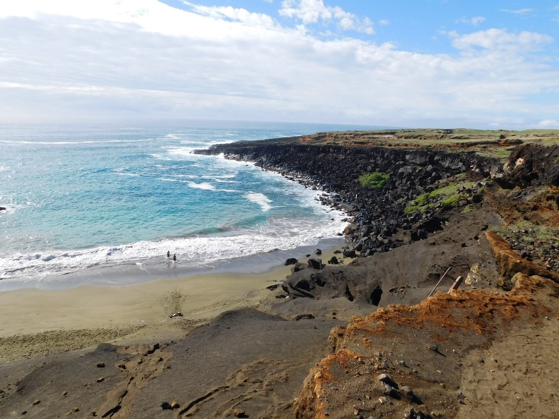 Green Sand Beach on the Big Island of Hawaii