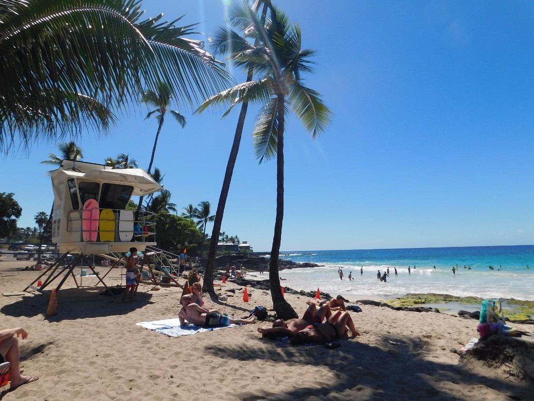 Magic Sands Beach on the Big Island of Hawaii