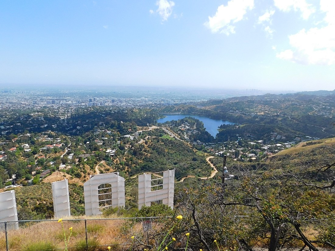 View from behind the Hollywood Sign in LA
