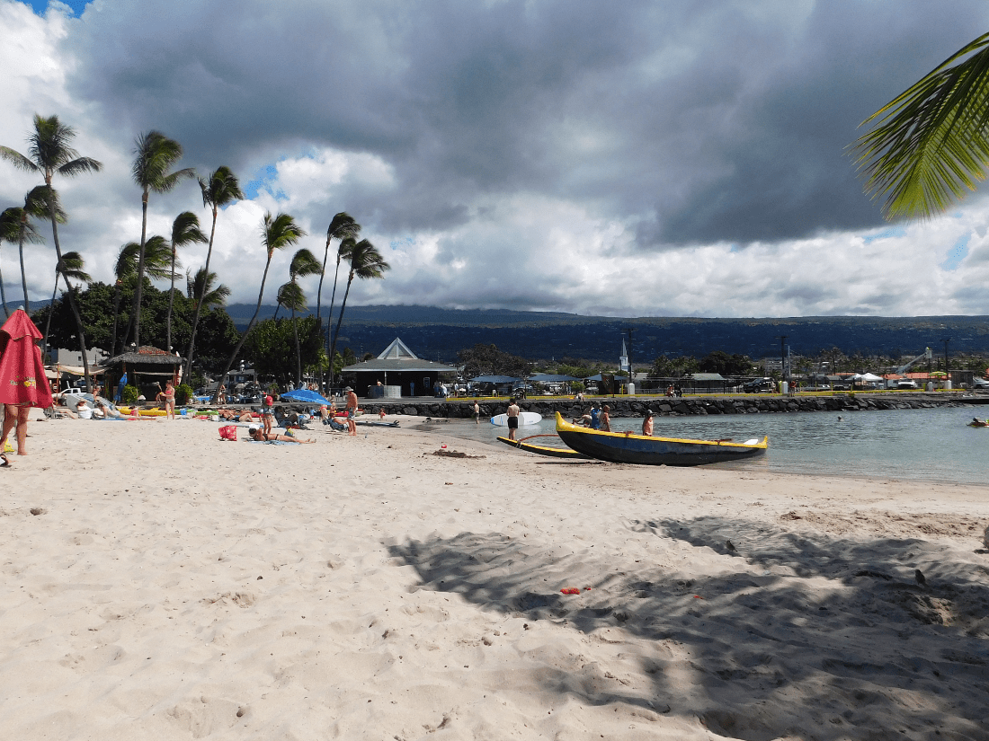 Kamakahonu Beach is the closest beach to Kona