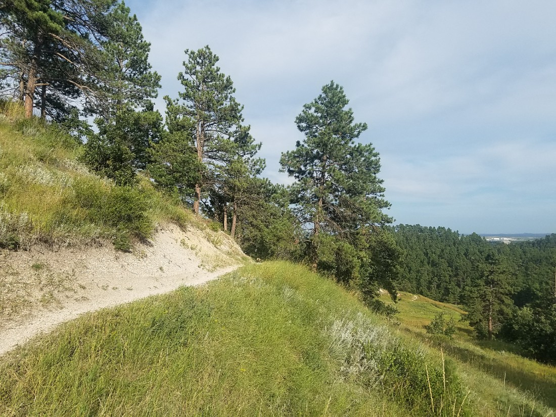Hiking near Rapid City in South Dakota