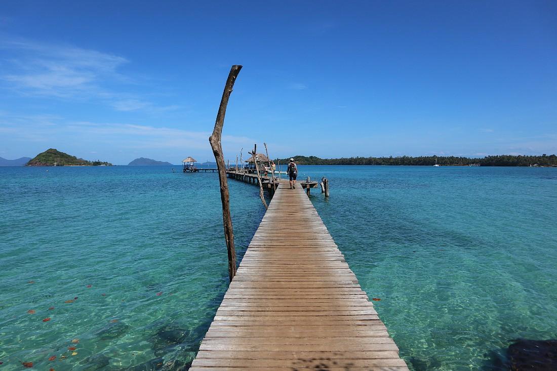 Beautiful jetty in Koh Mak