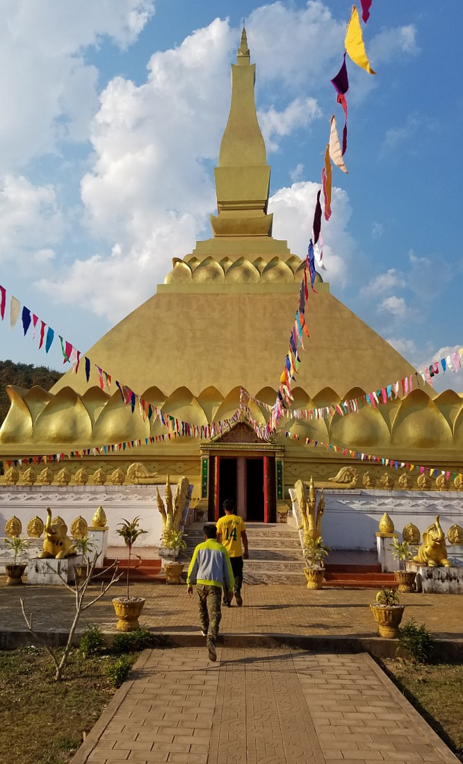 Golden temple in Luang Namtha, Laos