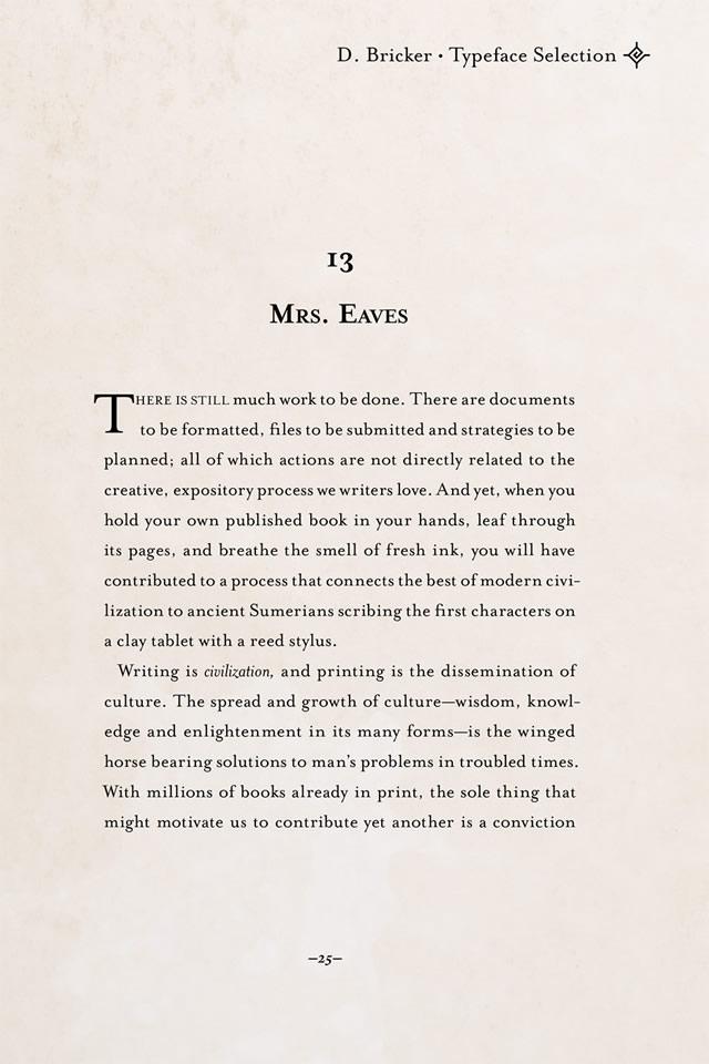Book Design Basics: Choosing a Book Font