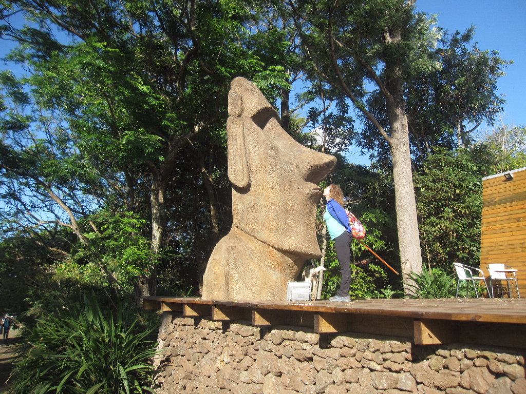 Moai at a craft center on Easter Island, Isla de Pascua, Chile, South America
