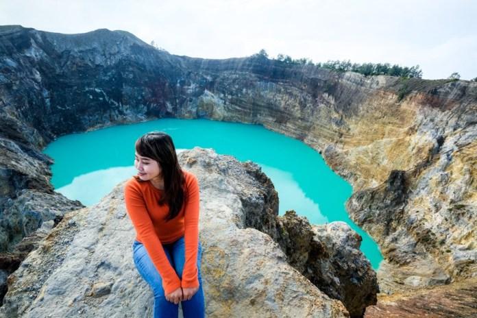 Kelimutu National Park Crater Lakes Of Mount Kelimutu Indonesia