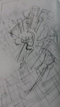 Sketch Superman, por Daniel Reyes