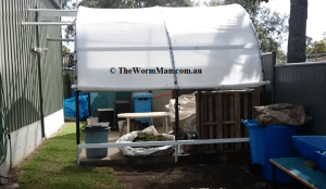 Hoop House With Wedge Worm Farm System