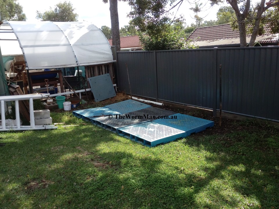The Wedge Worm Farm - Site cleared