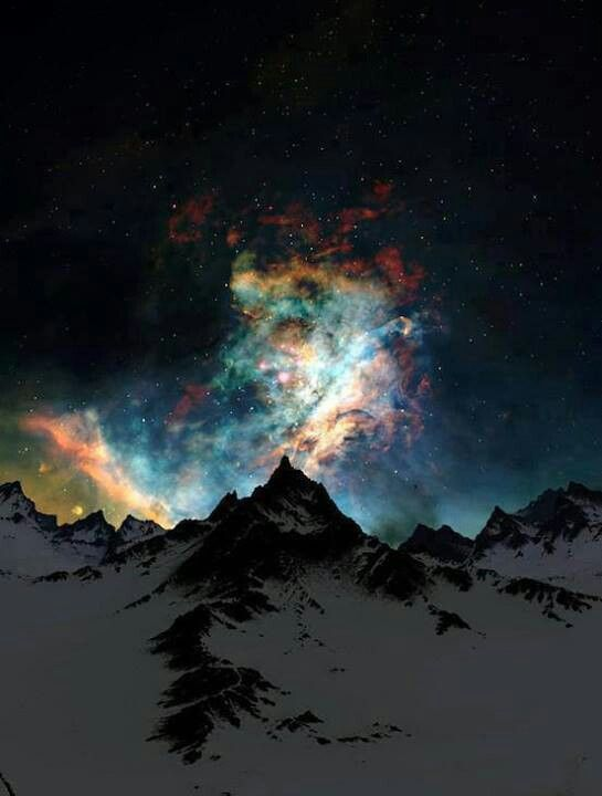 Aurora Borealis. The Northern Light. Alaska.