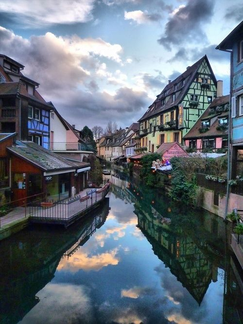 the town of colmar in northeast france.
