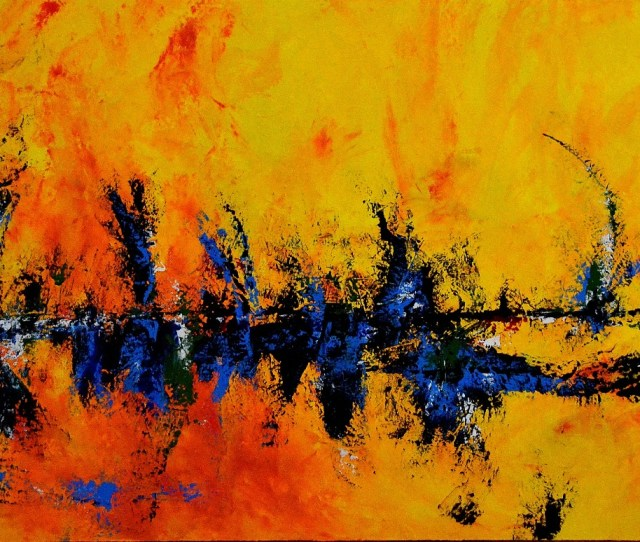 Abstract Art Painting Sabina D Antonio Cafe Delight