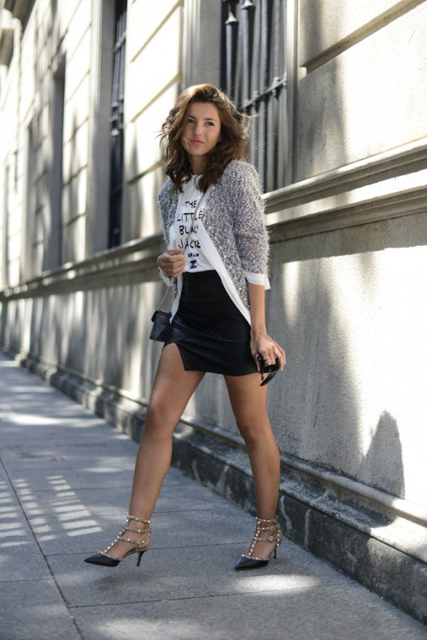 Outfit Ideas With Edgy and Elegant Rockstud Pumps