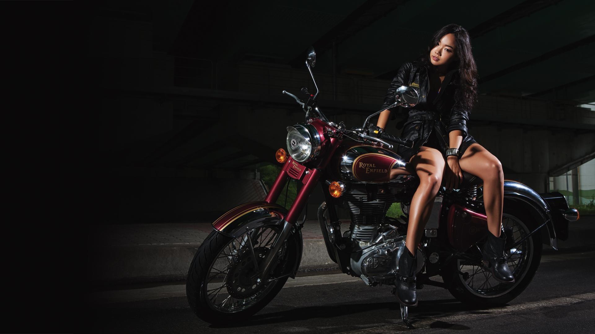 royal-enfield-motorcycle-girl-wallpaper-1920x1080