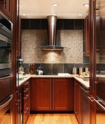 kitchen kitchens hood designs tiny interior vent cabinets remodel nice luxury stainless decoration steel appliances cherry narrow modern lighting compact