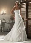 A Line Strapless Wedding Dresses