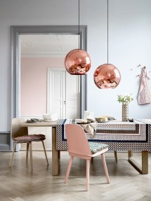 Blush Pink and Copper Home Decor