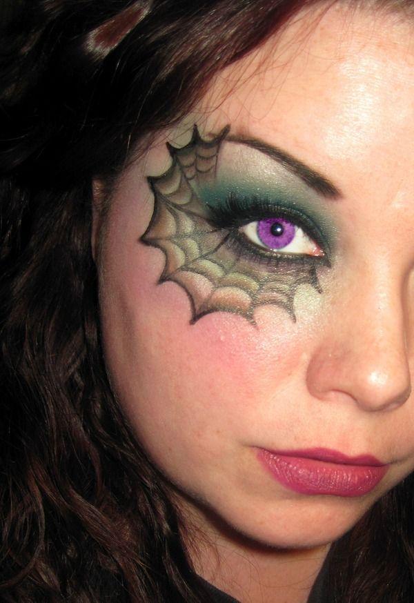 25 Outstanding Halloween Spider Makeup Ideas