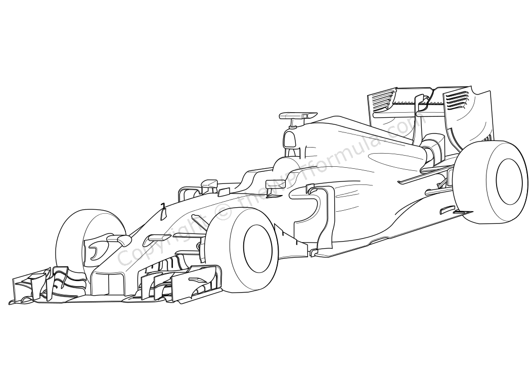 Ferrari Formula 1 Coloring Pages
