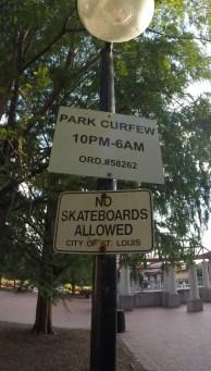 No Skateboarding...Yeah Right
