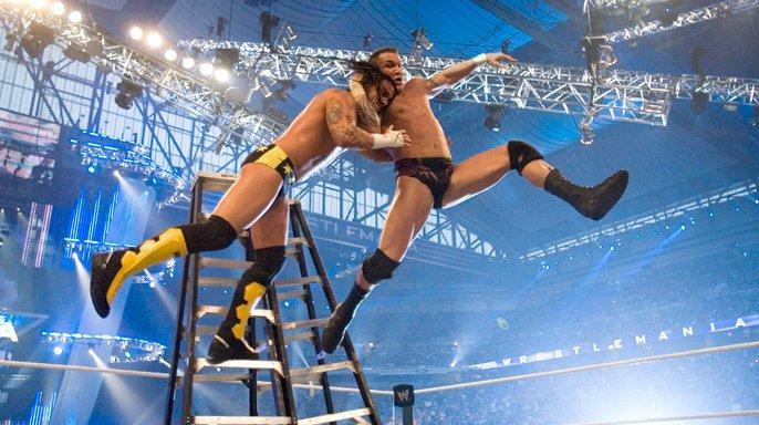 Image result for Mr. Kennedy vs. CM Punk vs. Randy Orton vs. Finlay vs. Matt Hardy vs. King Booker vs. Jeff Hardy vs. Edge - Money in the Bank Ladder Match