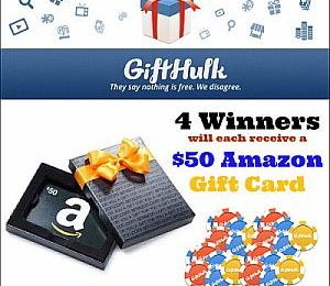 Win a $50 Amazon Gift Card: GiftHulk Giveaway