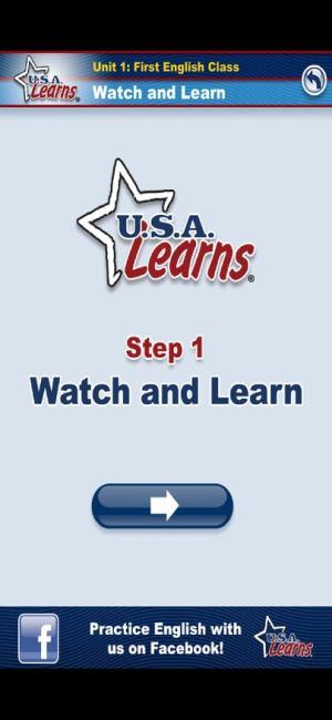 الحطوة الأولى لتعلم الاتجاهات في اللغة الإنجليزية من تطبيق USA Learns English 1